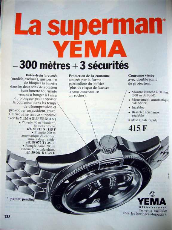 Publicité Magazine Yema