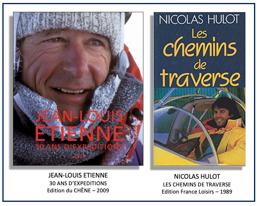 Livres de Jean-Louis Etienne et Nicolas Hulot