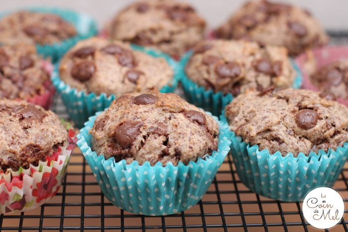 Vegan, Dairy Free, Egg Free, Nut Free Banana and Chocolate Muffins -  with Chocolate Flakes