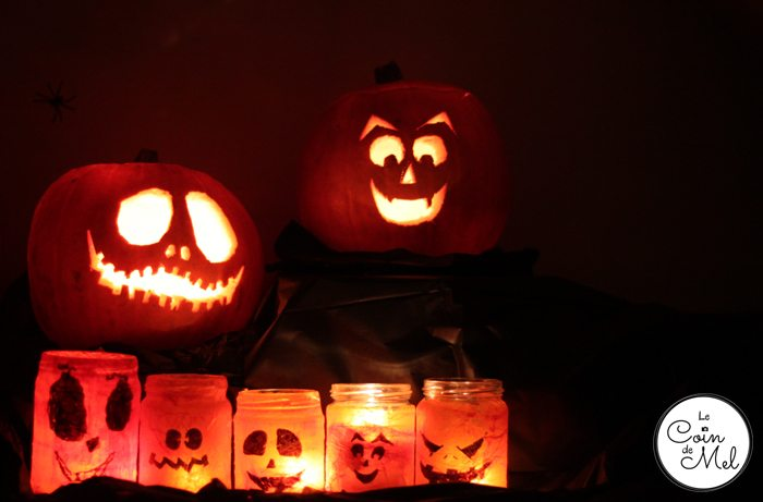 Carved Pumpkins and Tissue Paper Lanterns