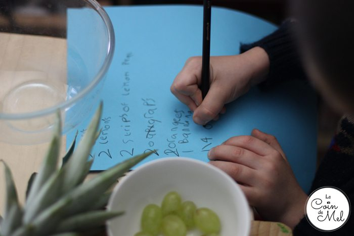 Fun with Food - Writing a Smoothie Recipe