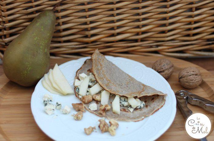 Pear, Roquefort & Walnut Pancakes