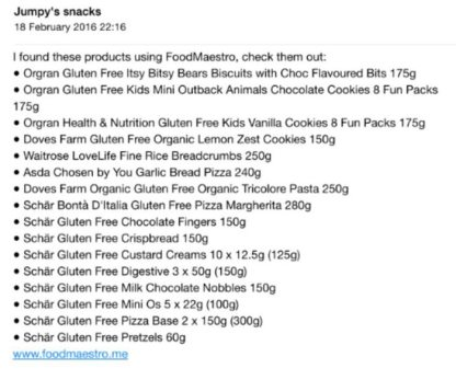 Food Maestro Review - Shopping List via Email