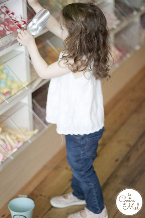 Sweet as a Button - a Sweet Shop Not Like Any Other - Jumpy helping herself despite allergies