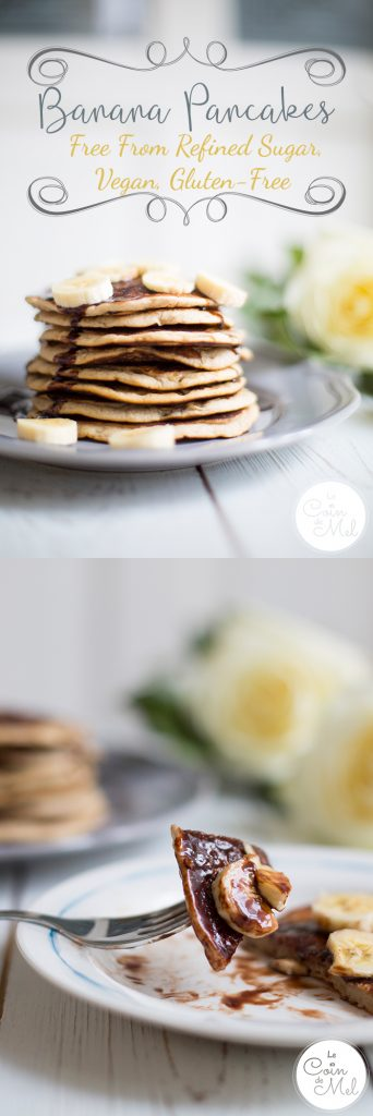 These fluffy American Pancakes, or Banana Pancakes, are are full of ...