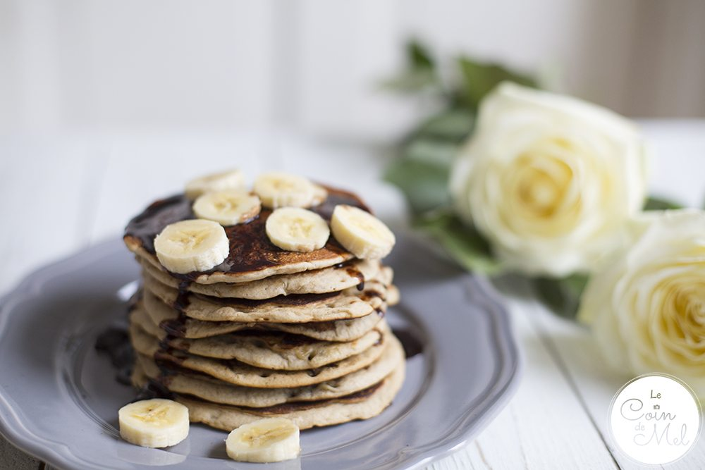 Banana Pancakes - Free From Refined Sugar, Vegan, Gluten-Free #FreeFromPancakes