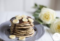 Banana Pancakes – Free From Refined Sugar, Vegan, Gluten-Free #FreeFromPancakes