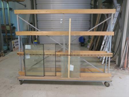 chariots porte panneaux bois et verre