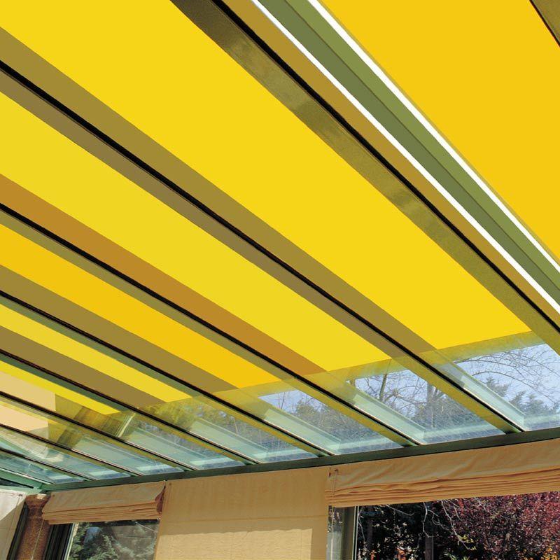 store pour toiture de veranda toile