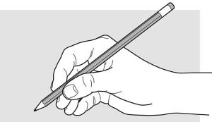 tenue du crayon