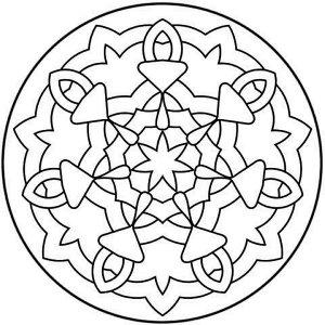 coloriage de mandala simple