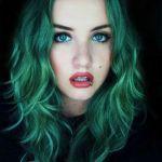 cheveux verts le coloriste