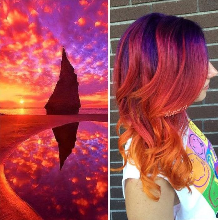 Les 10 colorations galaxy hair préférées du web, lecoloriste