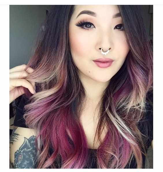 Couleur cheveux 2018 tie and dye