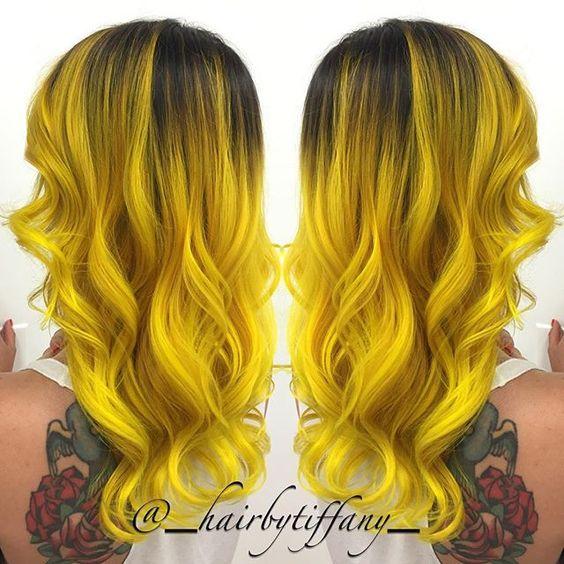 Couleur cheveux jaune