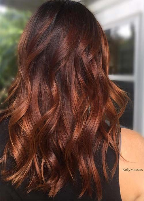 Coloration des cheveux 2019 Chocolate Shades