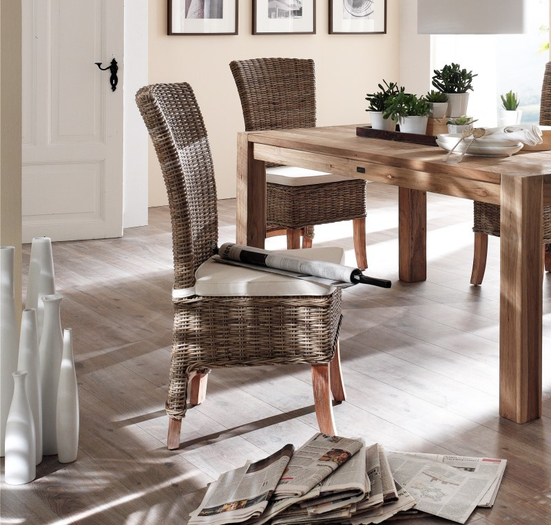 Lot 2 Chaises En Rotin Tress Collection SALSA Chaise