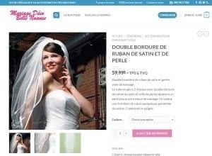 Page du site Internet de Mariage Déco Belle Nuance