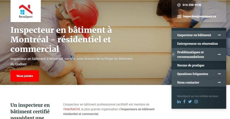 Le Concepteur Web et le nouveau site de RenoSpect