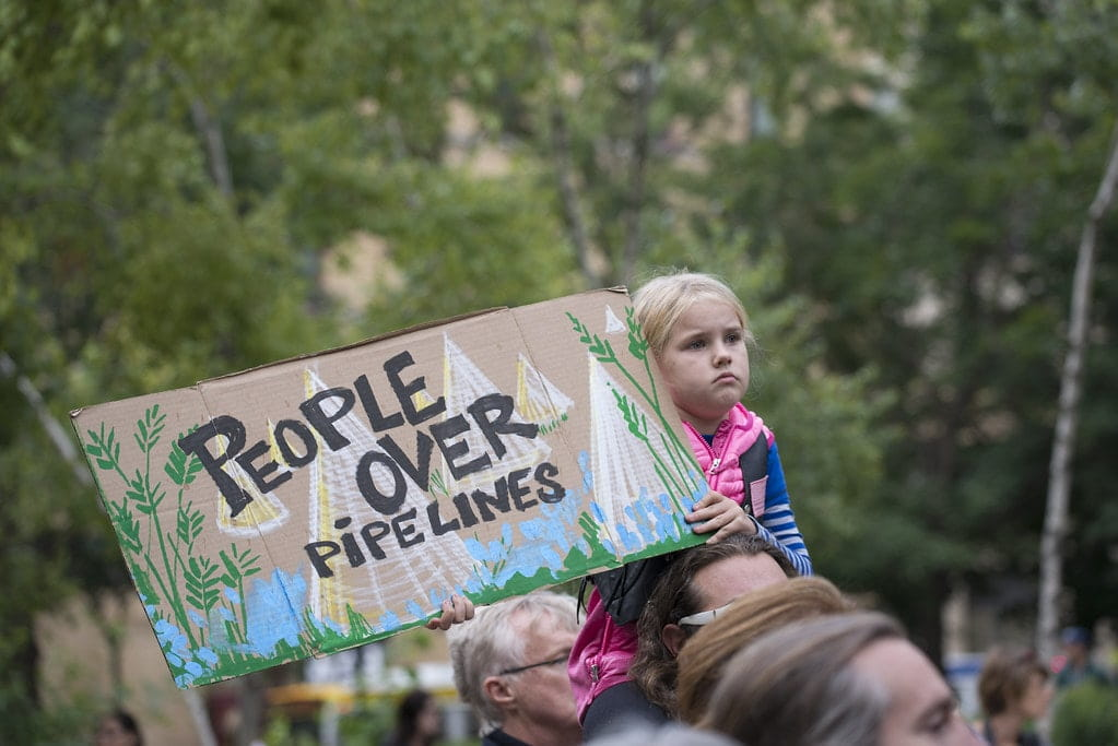 Dakota Access Pipeline young protester