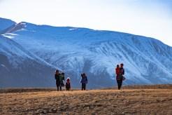 Kazakh family crossing the steppes
