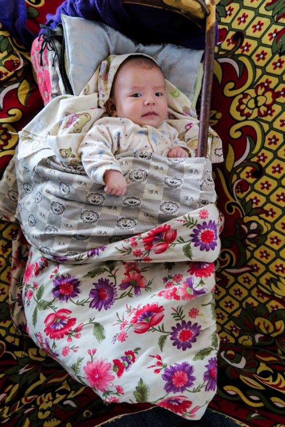 Kazakhs baby and...