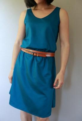 la robe Mirage en soie japonaise bleu canard