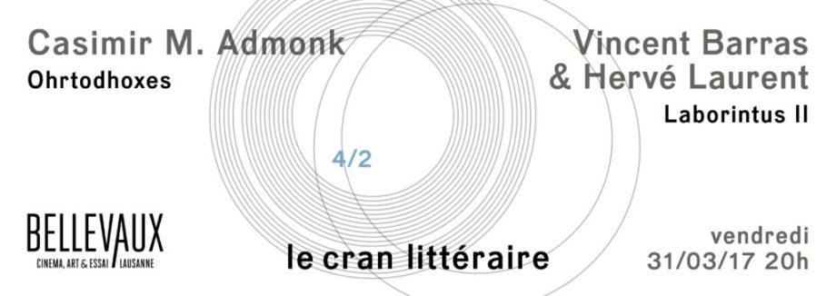 Soirée Quadrature du cerf — Vendredi 31/03/2017, 20h