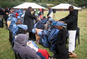 Prayers of healing at Leeto la Thapelo 2012