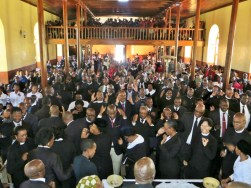 Morija LECSA church service during weekend of Pastor's Retreat
