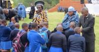 Pastors praying for students of Morija Girls High School