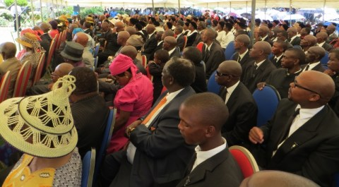 Worshippers at the Matsieng Service