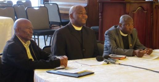 Mr. Ntai, Rev. Masemene and Rev. Makakane