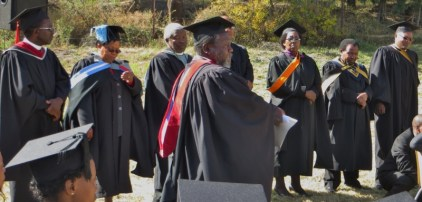 Rev. Lentsoenyane introducing faculty members