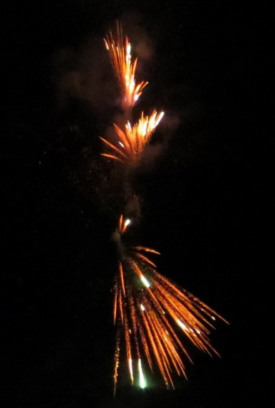 Midnight fireworks