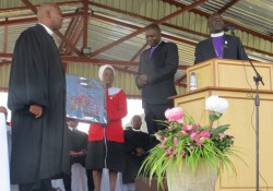 Gift presentation of the United Church of Zambia