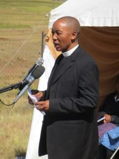 Rev. Kutumela, Presbytery Moderator of Tsoelike LECSA
