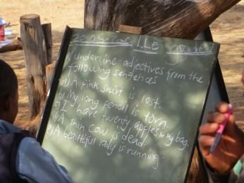 Classroom scene at Qiloane Primary School