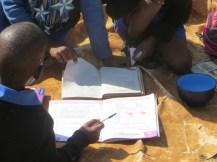 Studying at Qiloane Primary School