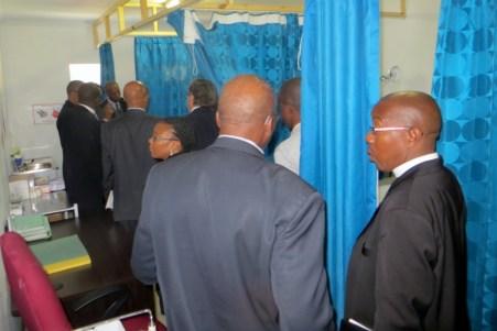 Dignitaries tour the VMMC clinic