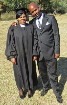 Graduating Pastor Mrs. Flora Matefo Moea and her husband Relebohile