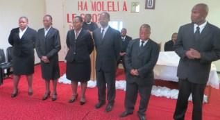 3rd Year Theological Students Mrs. Lesaane, Mrs. Masupha, Mrs. Tjobo, Mr. Letuma, Mr. Seitlheko and Mr. Naleli