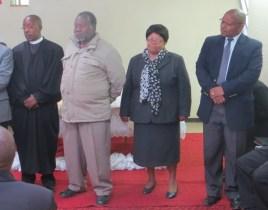 MTS Faculty Members Rev. Motumi, Rev. Lentsoenyane, Mrs. Setlaba and Rev. Tšeuoa