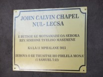 Plaque commemorating the official opening