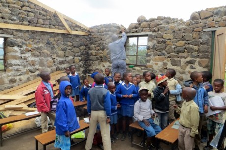 Damaged classroom at Mafa Primary School