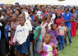 Children and youth attending Leeto la Thapelo