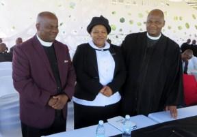 Rev. & Mrs. Moeketsi Machachamise with LECSA Moderator Rev. Masemene