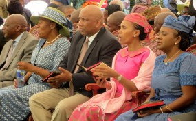 Members of the Royal Family attending the service