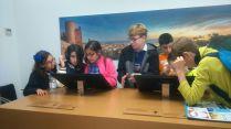 Interactuando en el museo