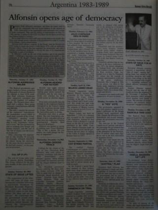 """""""Alfonsín inaugura la era de la democracia"""""""